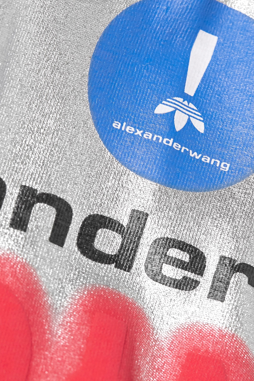 adidas Originals By Alexander Wang Printed metallic stretch-cotton jersey shorts