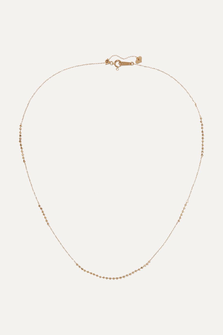 Poppy Finch 18K 黄金串珠项链