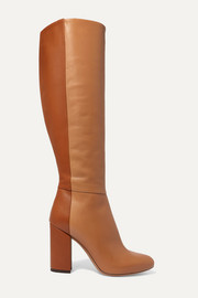 Sophie two-tone leather knee boots