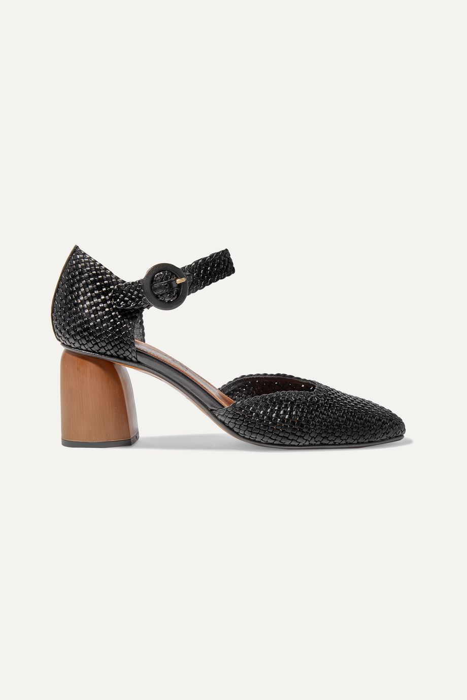 Souliers Martinez Antequera woven leather pumps