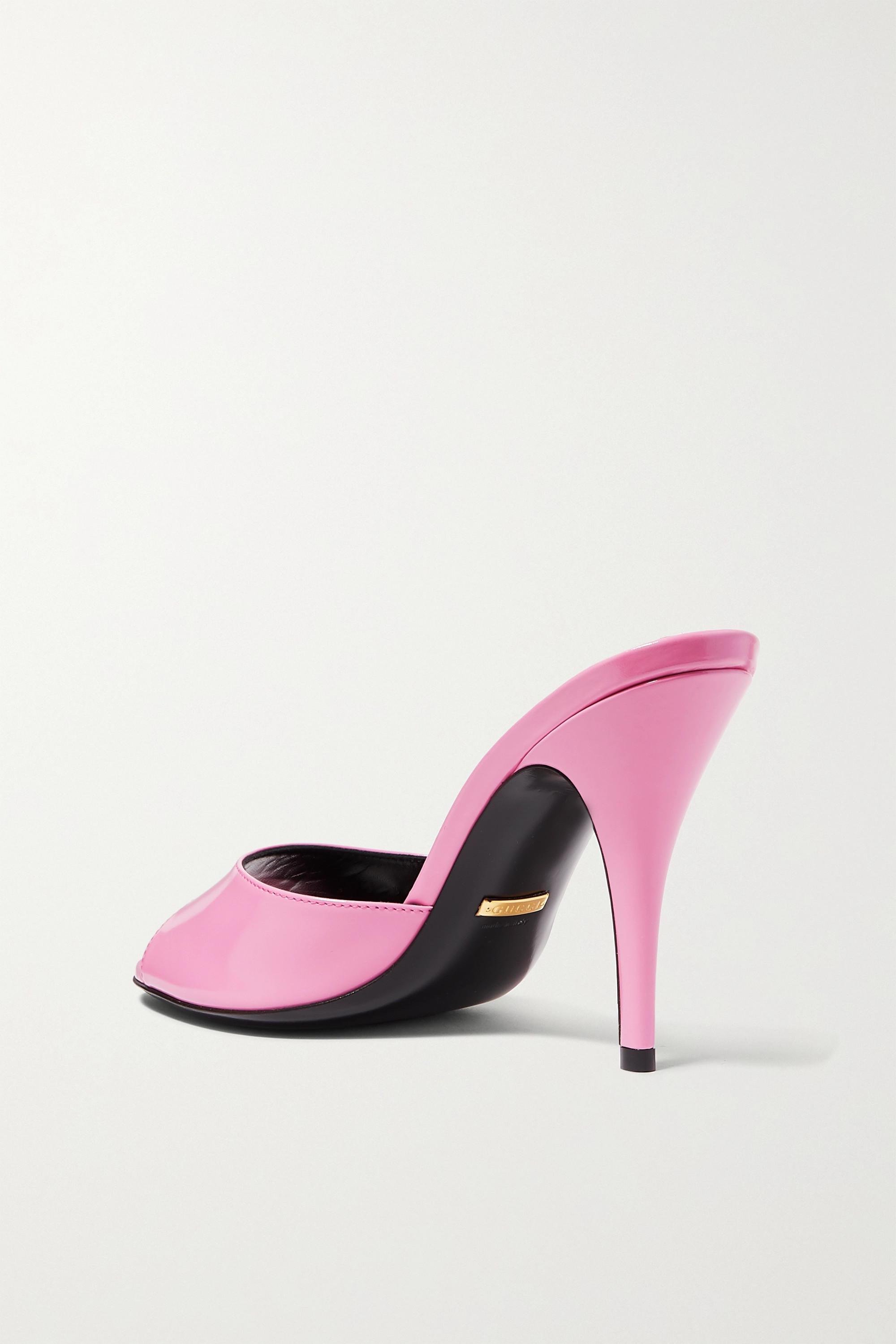 Gucci Scarlet 亮面皮革穆勒鞋