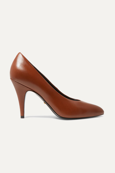 Blanca Leather Pumps by Gucci