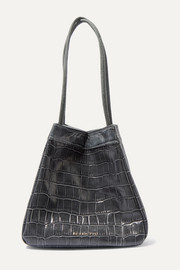 Rita small croc-effect leather bucket bag