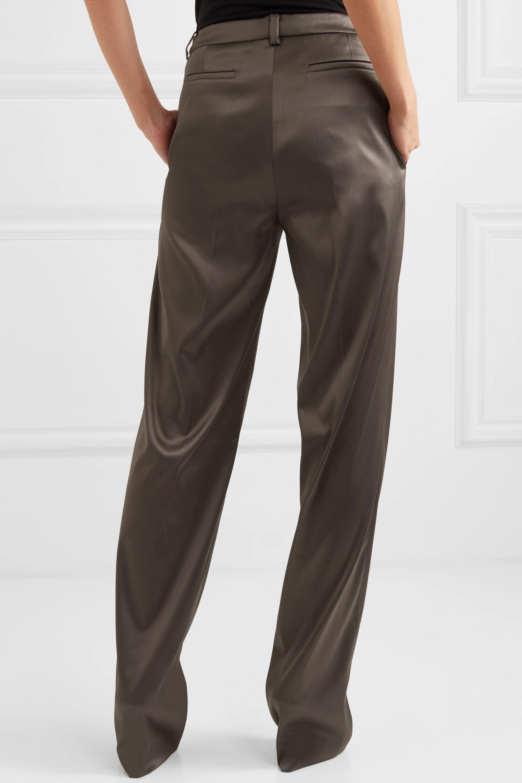 we11done Satin straight-leg pants