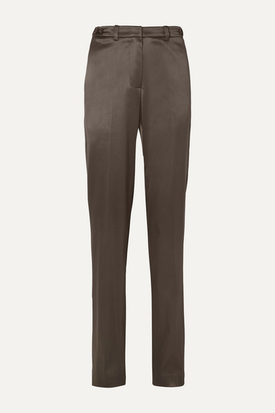 Satin Straight Leg Pants by We11done