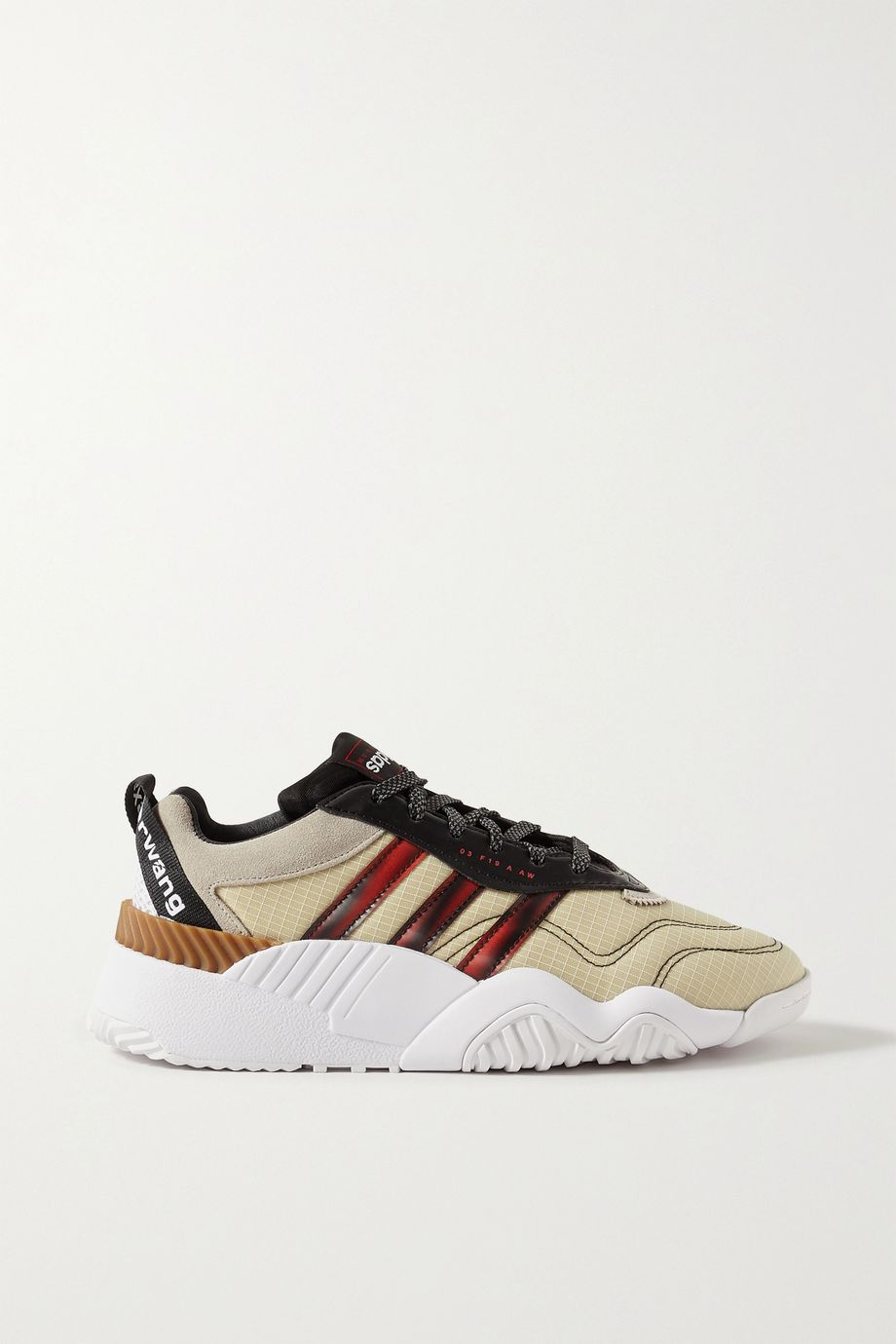 adidas Originals By Alexander Wang Turnout suede and rubber-trimmed ripstop sneakers