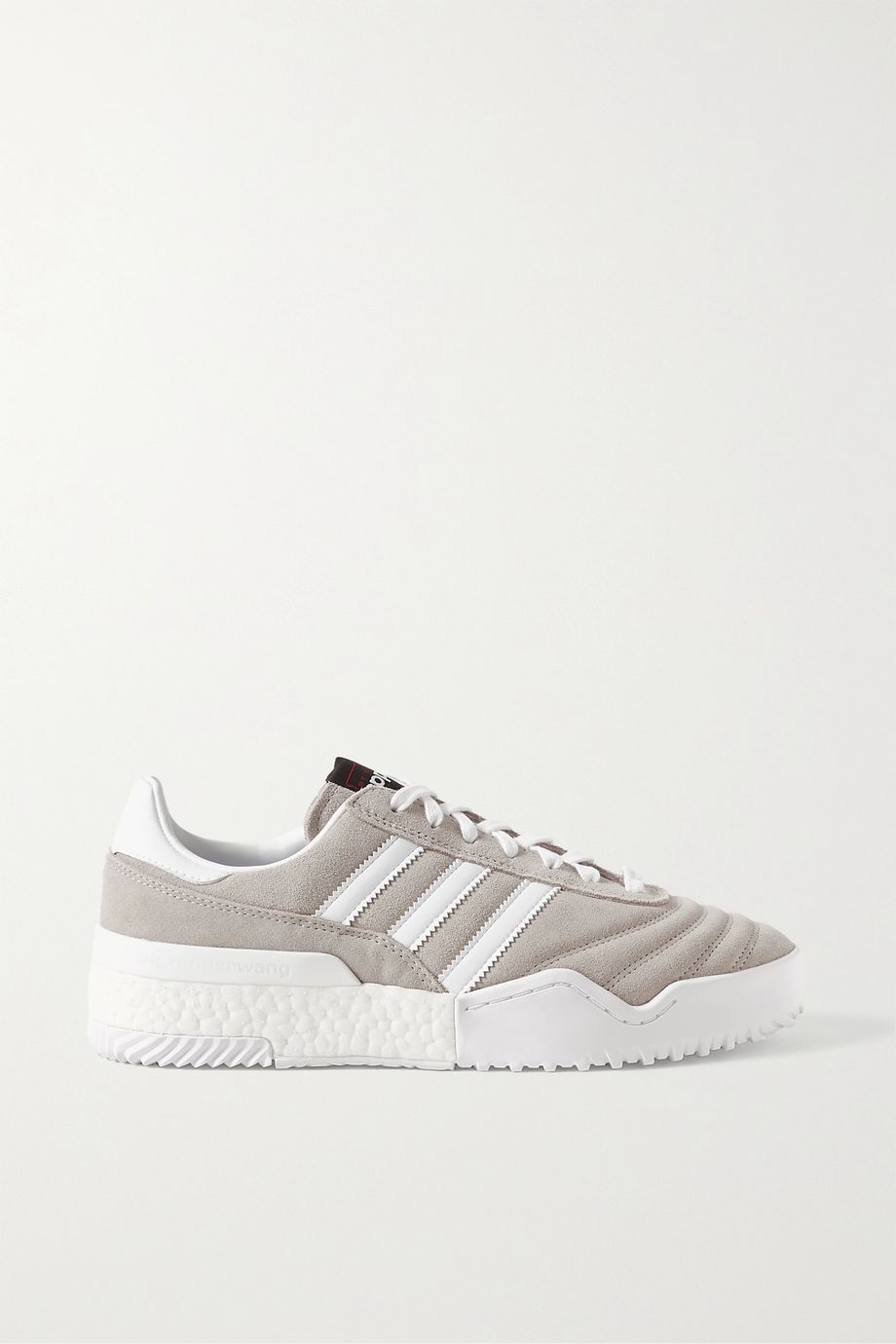 adidas Originals By Alexander Wang BBall Soccer leather-trimmed suede sneakers