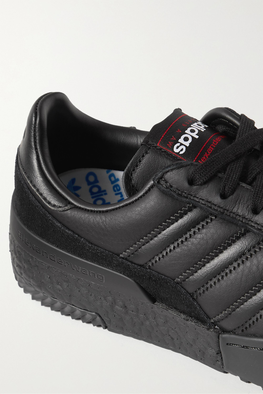 adidas Originals By Alexander Wang BBall Soccer Sneakers aus Leder mit Velourslederbesatz