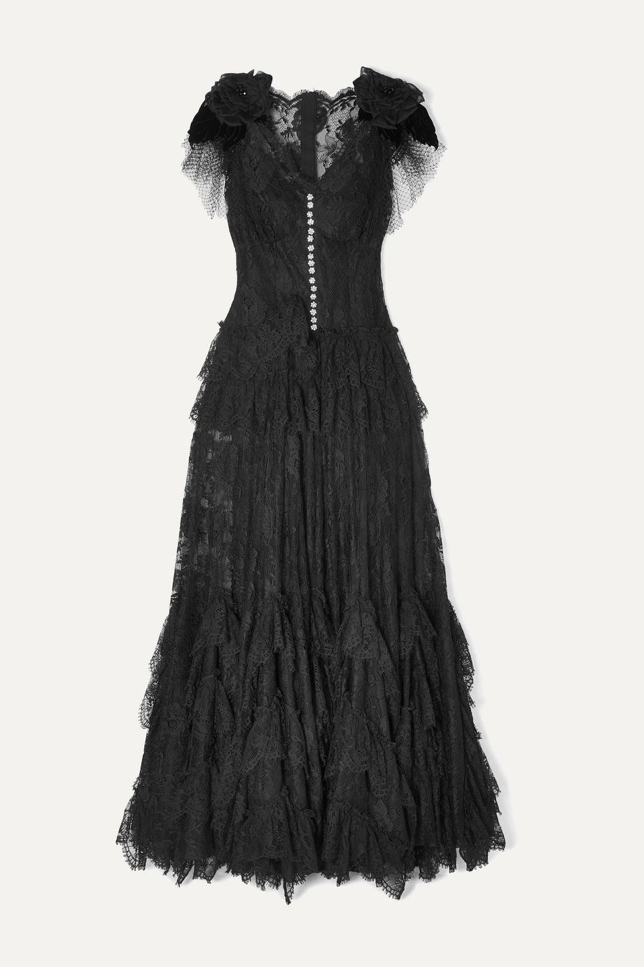 Dolce & Gabbana Appliquéd embellished lace gown