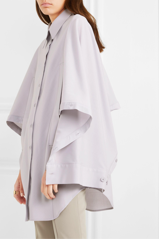 LOW CLASSIC Convertible draped woven shirt