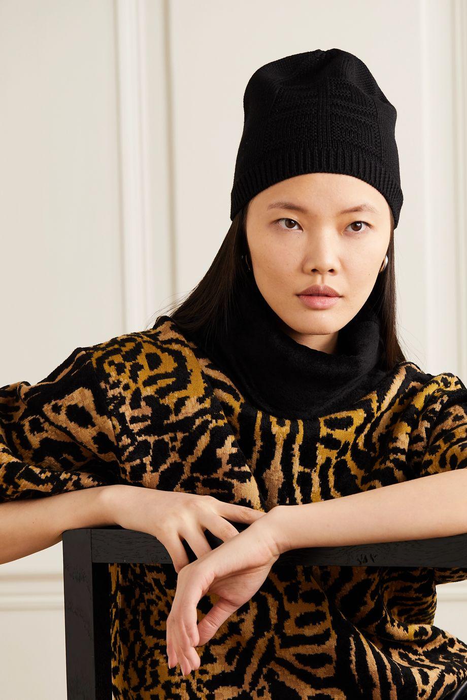 Givenchy Wool-jacquard beanie