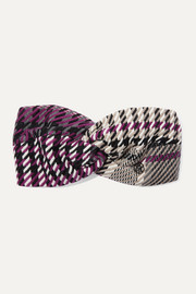 Carolyn twisted houndstooth tweed headband