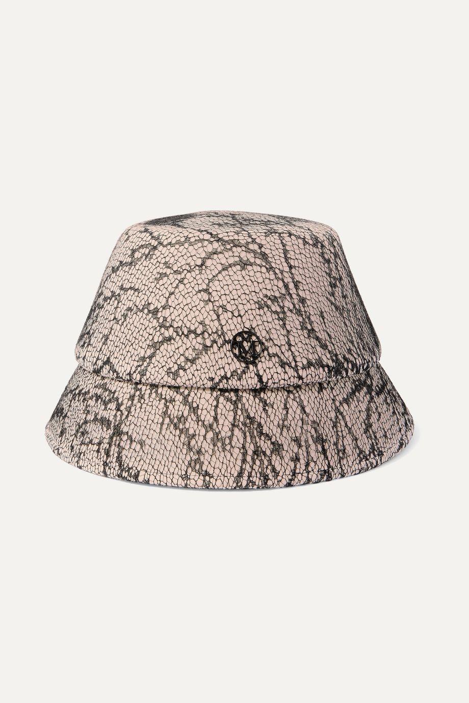 Maison Michel Souna rabbit-felt and lace bucket hat