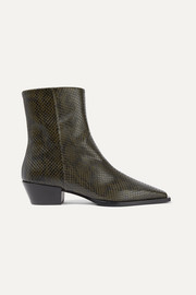 Bottines en cuir effet serpent Ruby