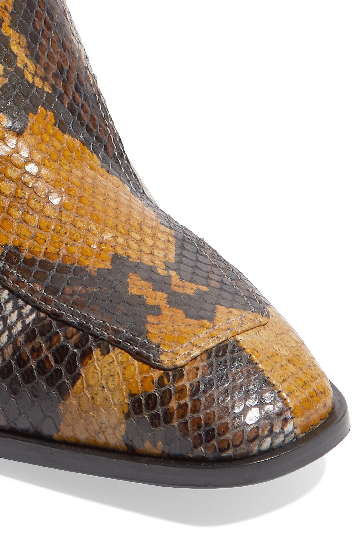aeyde Bottines en cuir effet serpent Lidia