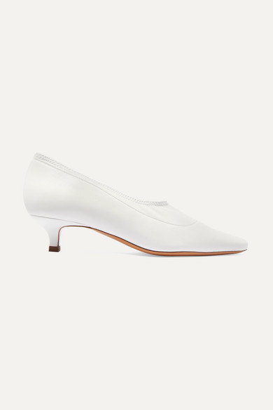Harper Stretch Leather Pumps by By Far