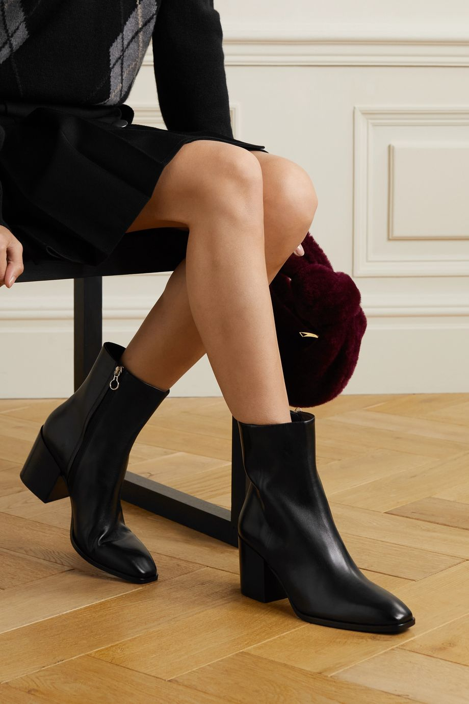 aeyde Leandra 皮革踝靴