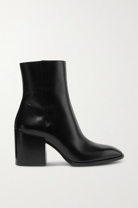Black Leandra leather ankle boots | aeydē. AtiL4x