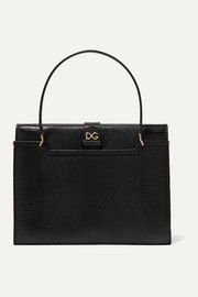 Ingrid lizard-effect leather tote