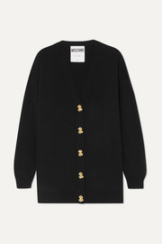 Moschino Button-embellished wool cardigan