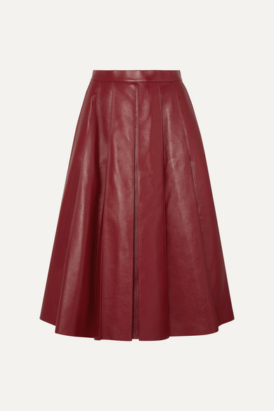 Alexander Mcqueen Skirts Pleated leather skirt