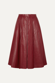 Alexander McQueen Pleated leather skirt