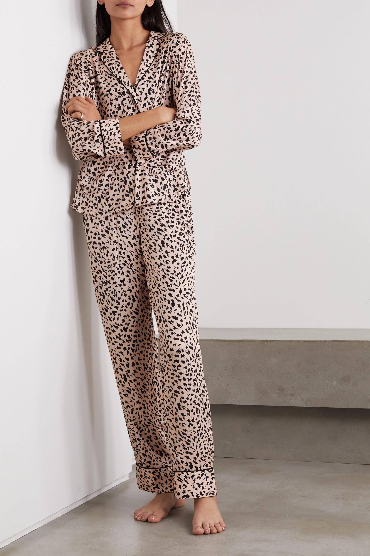 Les Girls Les Boys Animal-print jersey pajama set