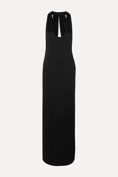 Saint Laurent Dress Open-back satin gown