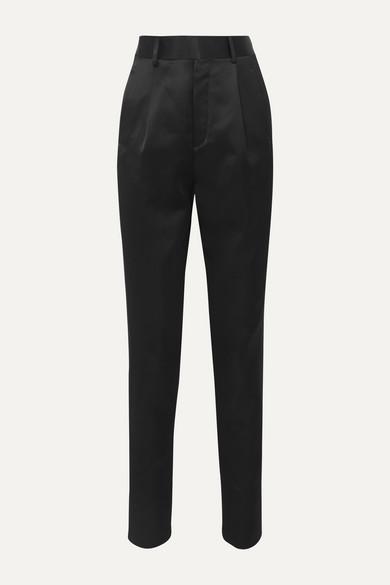 Saint Laurent Pants Satin straight-leg pants