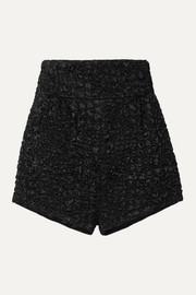 SAINT LAURENT Matelassé satin shorts