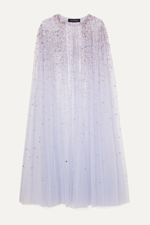 Jenny Packham Odetta sequined tulle cape