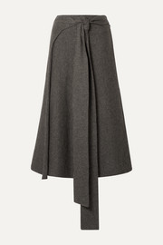 Lauren Manoogian Alpaca-blend wrap skirt