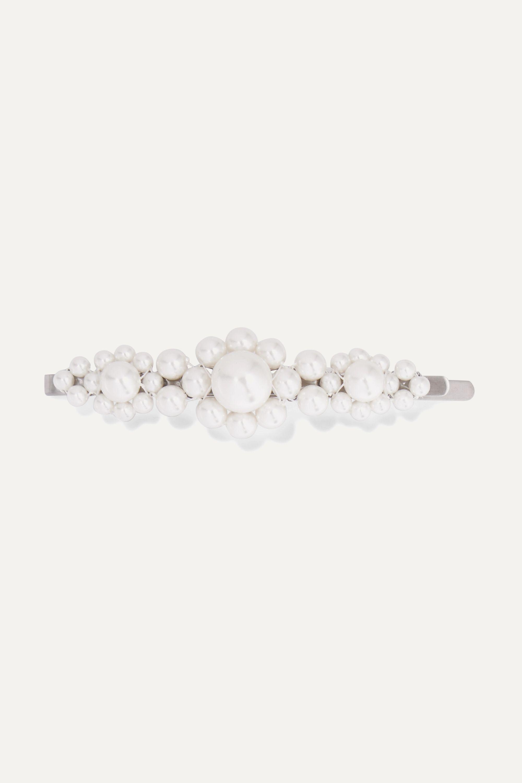 Simone Rocha Silver-tone faux pearl hair slide