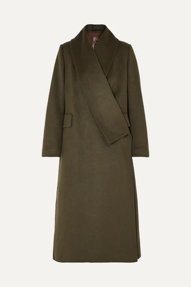 kigiku-wool-blend-coat by golden-goose