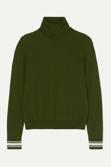 Golden Goose Tops Striped merino wool-blend turtleneck sweater