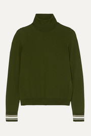 Golden Goose Striped merino wool-blend turtleneck sweater