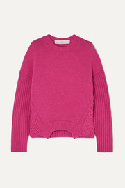 Golden Goose Momoirobara paneled merino wool sweater