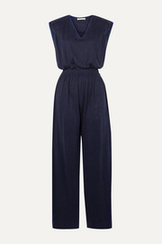 Ninety Percent Shirred linen jumpsuit