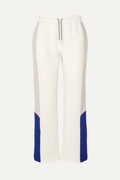 Color Block Organic Cotton Jersey Track Pants by Ninety Percent