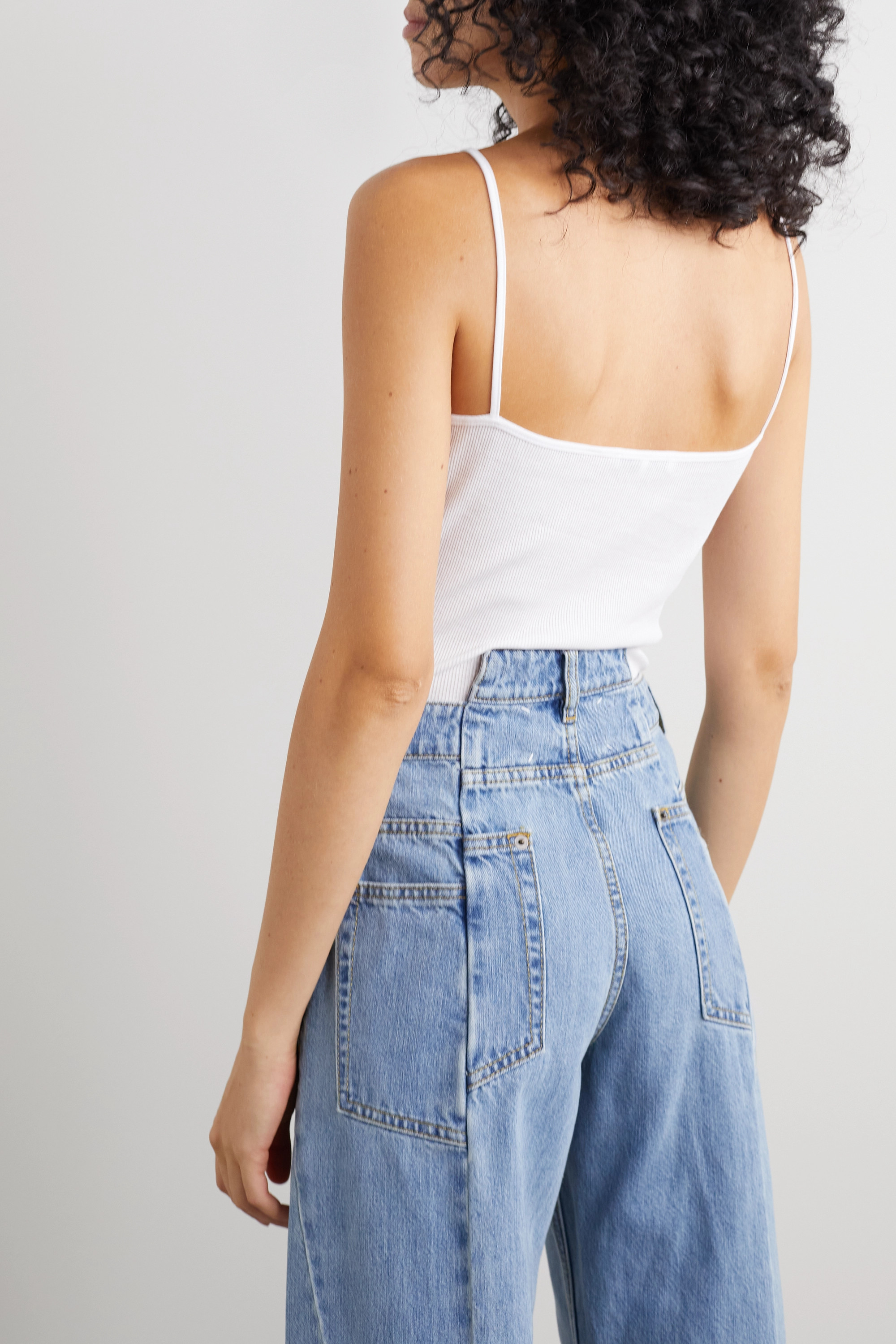 Ninety Percent + NET SUSTAIN ribbed organic cotton-jersey camisole