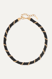 Rope and gold-tone choker