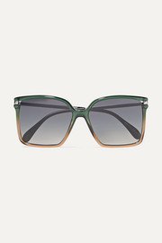 Givenchy Oversized square-frame ombré acetate sunglasses