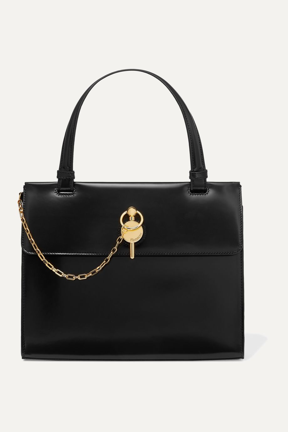JW Anderson Frame Keyts glossed-leather tote
