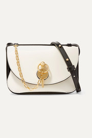 Keyts small two-tone glossed-leather shoulder bag