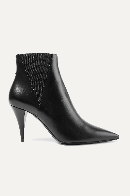 SAINT LAURENT Kiki leather ankle boots