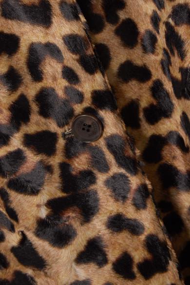 Rokh | Deckard Mantel aus Faux Fur mit Leopardenprint und