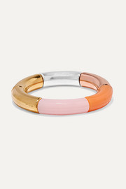 Kyoto Tango Sun Chariot resin, gold, copper and silver-plated bangle