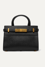 Manhattan micro textured-leather tote