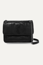 SAINT LAURENT Niki medium snake shoulder bag