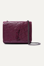 Niki mini quilted crinkled-leather shoulder bag